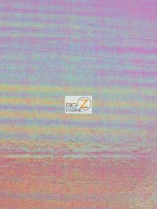 Rainbow Mist Holographic Spandex Fabric Fuchsia