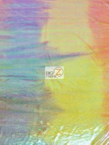 Rainbow Mist Holographic Spandex Fabric Multi-color