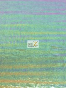 Rainbow Mist Holographic Spandex Fabric Navy Blue