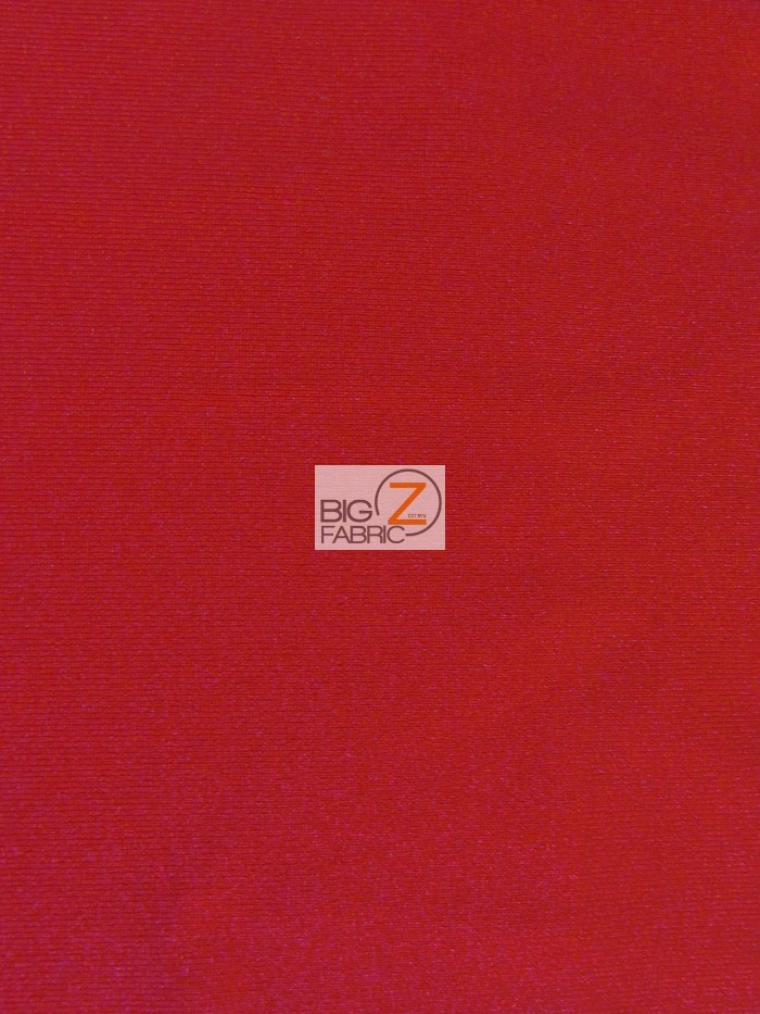 Red Solid Heavy Jumbo Nylon Spandex Fabric