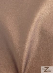 Solid Two Way Stretch Spandex Costume Dance Vinyl Fabric Bronze